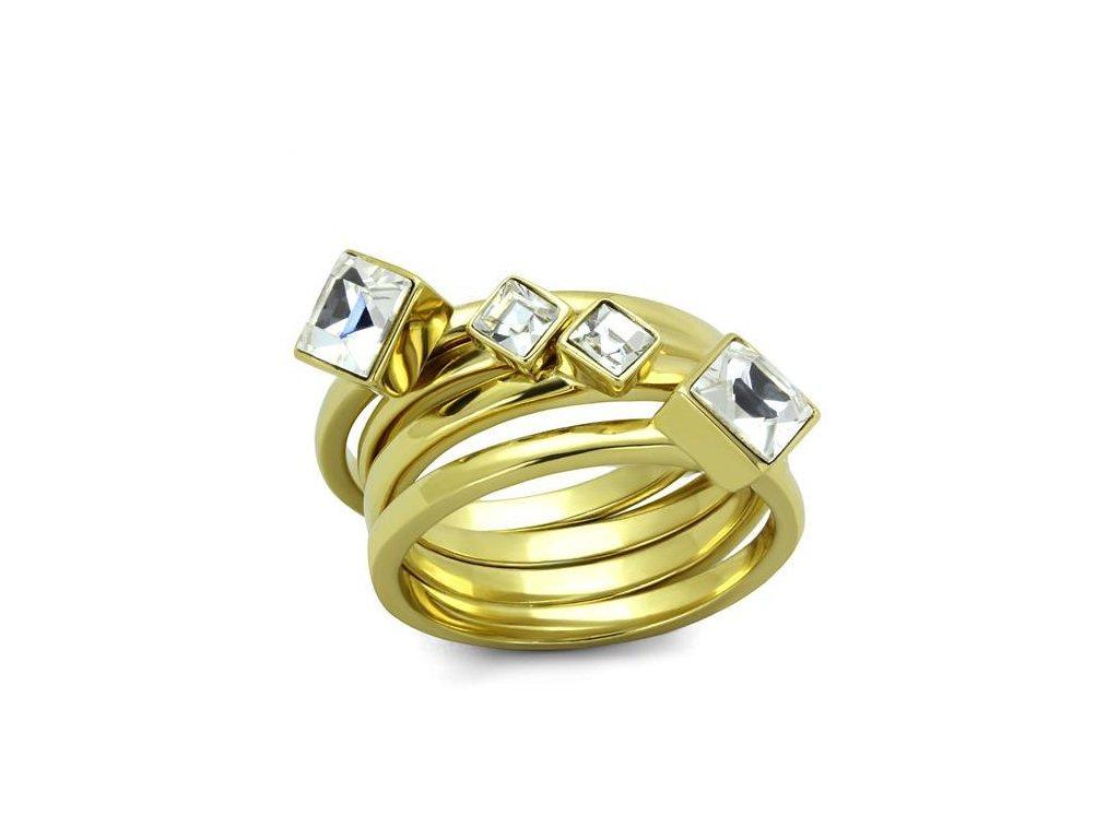 zlaty ocelovy prsten sr2158