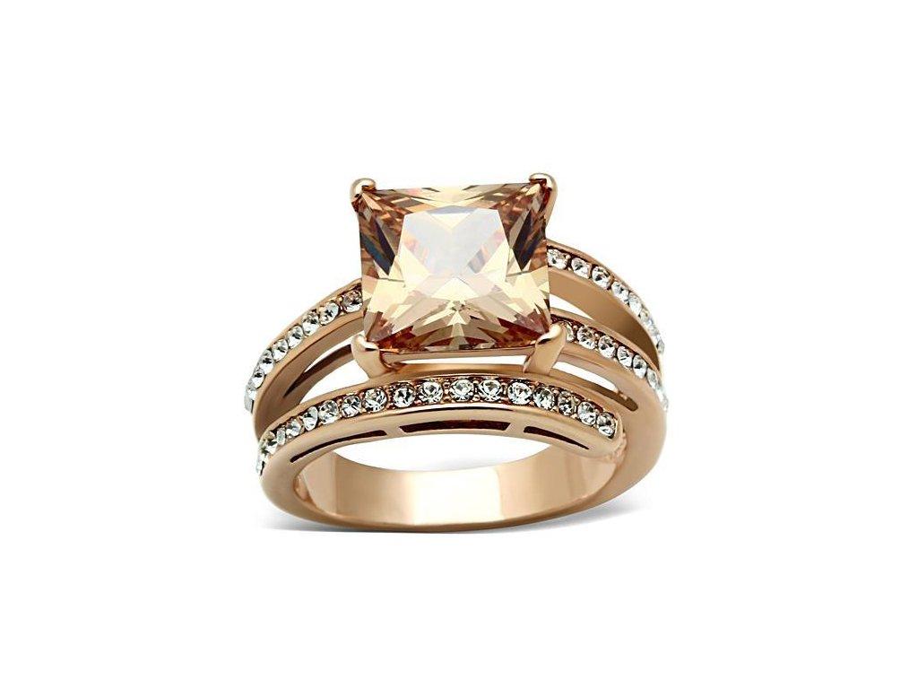 zlaty ocelovy prsten sr1665