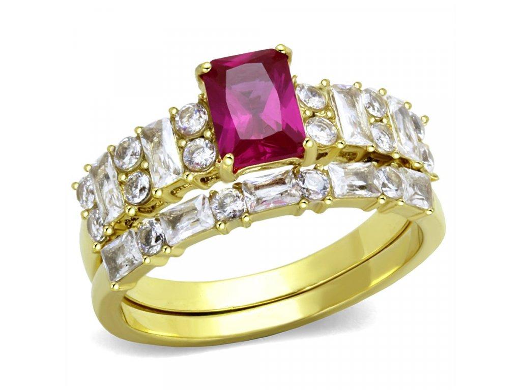 zlaty ocelovy prsten sr2134