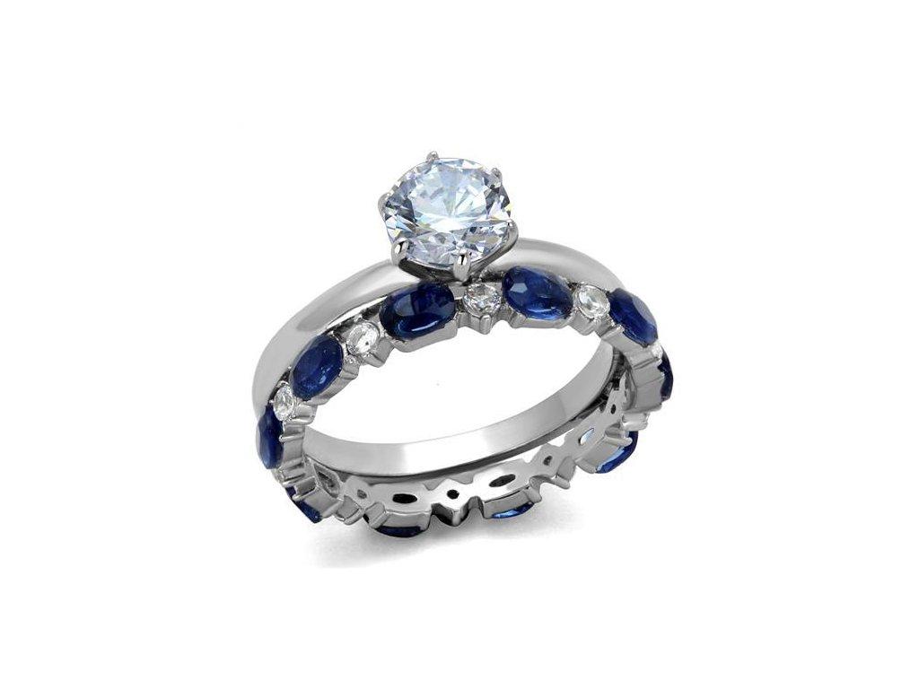 ocelovy prsten so zirkonom sr2175