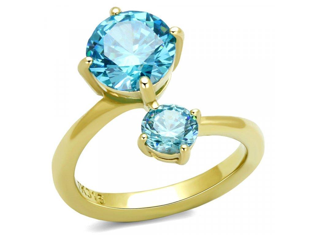 zlaty ocelovy prsten sr3092