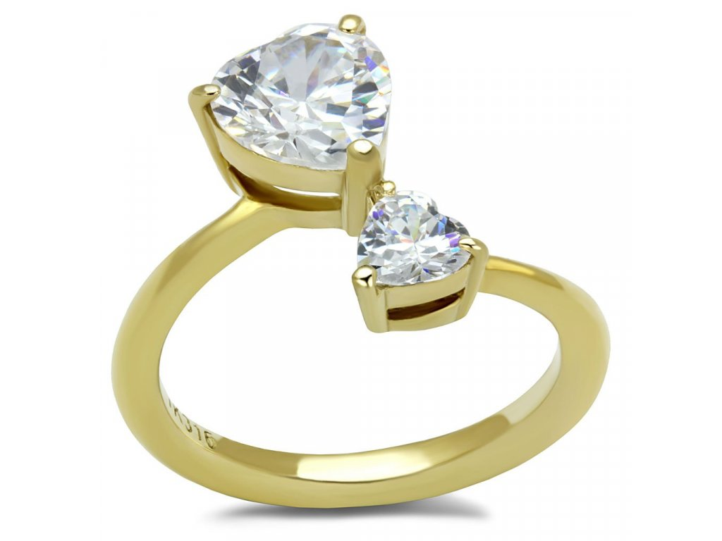 zlaty ocelovy prsten sr3093
