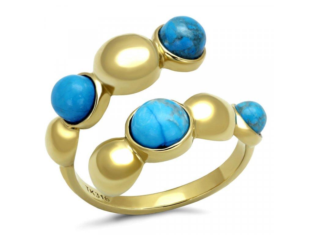 zlaty ocelovy prsten sr3091