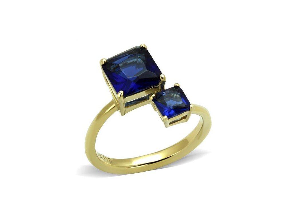 zlaty ocelovy prsten sr3110