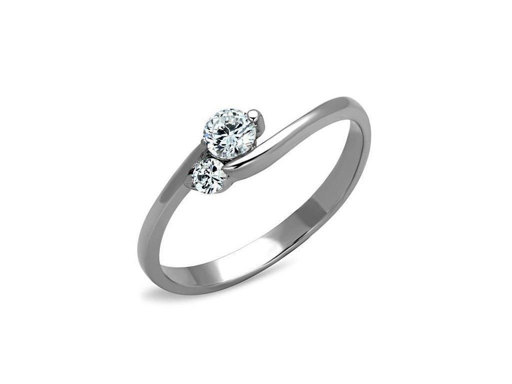 ocelovy prsten so zirkonom sr1544