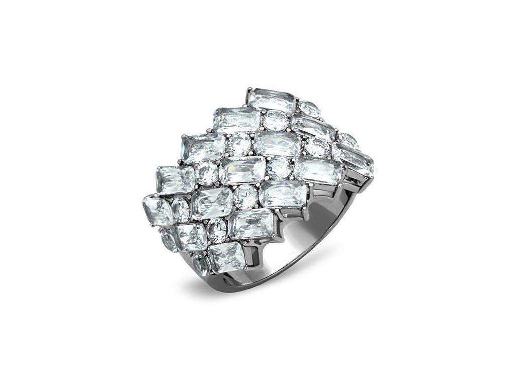 ocelovy prsten so zirkonom sr1522
