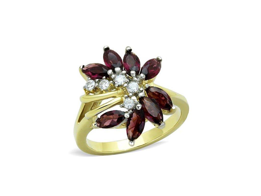zlaty ocelovy prsten sr1565