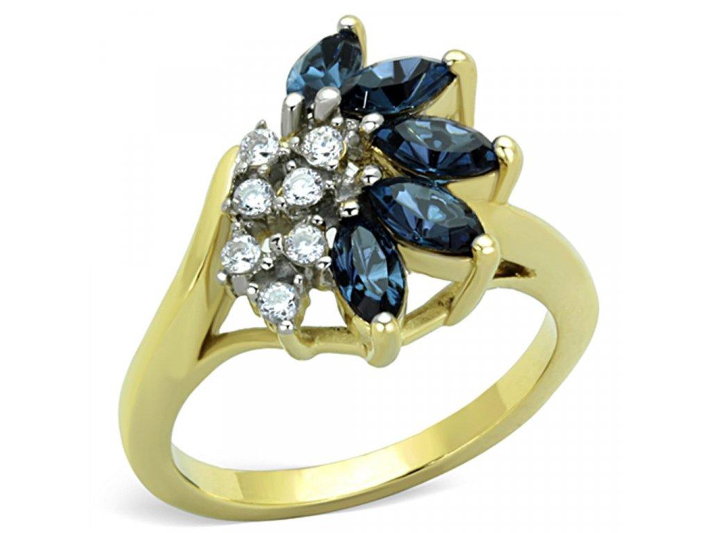zlaty ocelovy prsten sr1573