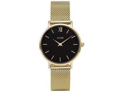 damske hodinky CL30012 Minuit Mesh Gold black