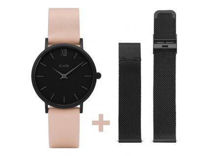 hodinky cluse minuit mesh black cl30027 7