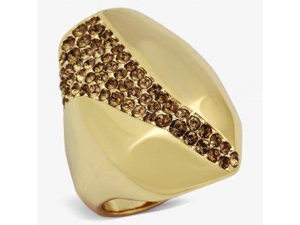 ocelovy prsten zlaty sr0854