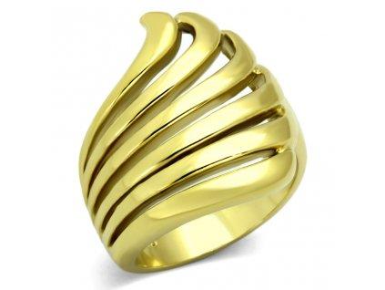 ocelovy zlaty prsten sr1028