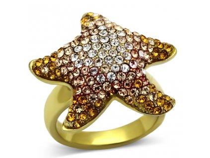 ocelovy zlaty prsten sr1034