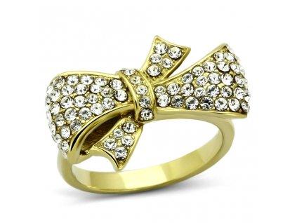 ocelovy zlaty prsten sr1032