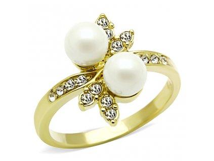 ocelovy prsten zlaty sr0116g
