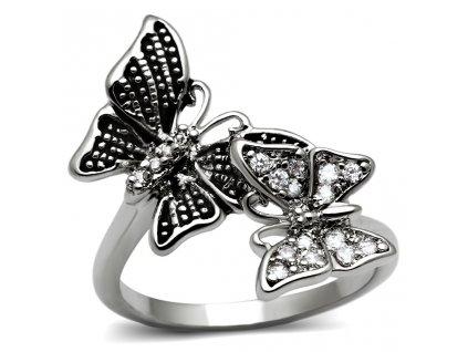 motyl ocelovy prsten sr2874
