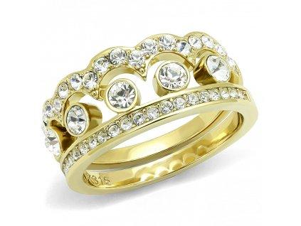 zlaty ocelovy prsten sr3123