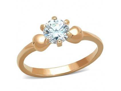 zlaty ocelovy prsten so zirkonom sr1596