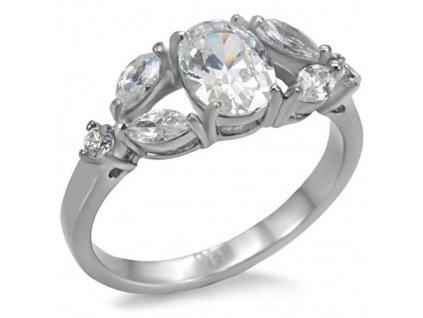 ocelovy prsten so zirkonom sr0073