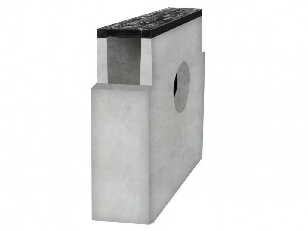 Betonová vpusť C250 s litinovou mříží