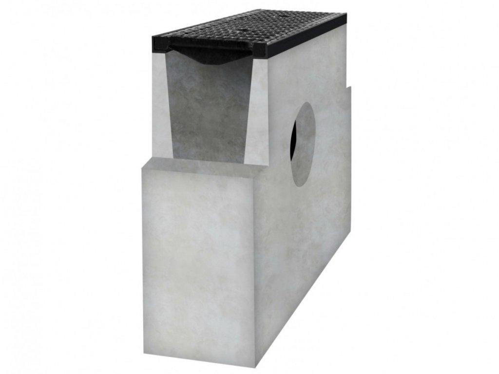 Betonová vpusť D400 s litinovou mříží