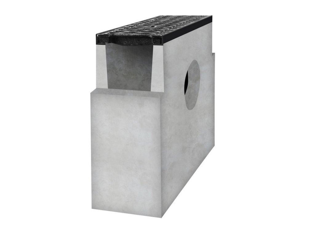 Betonová vpusť D400 ke spádovému žlabu
