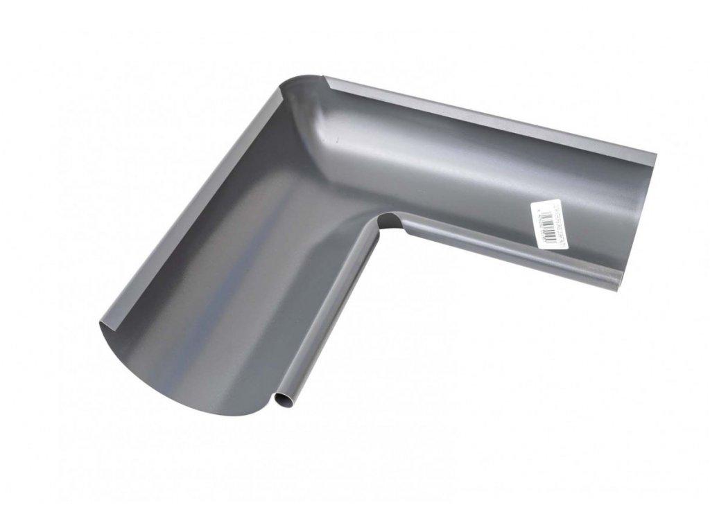 Barevný roh okapového žlabu vnitřní 125 mm