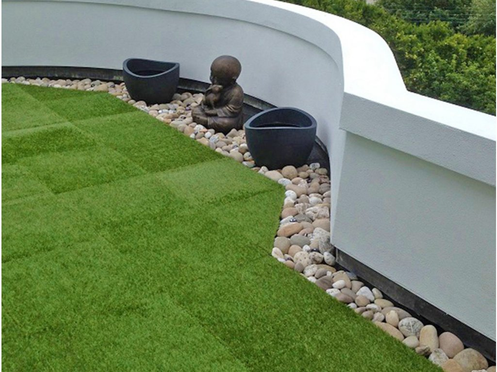 Gumová dlažba Grass