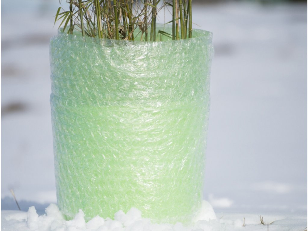 Bublinková fólie proti mrazu