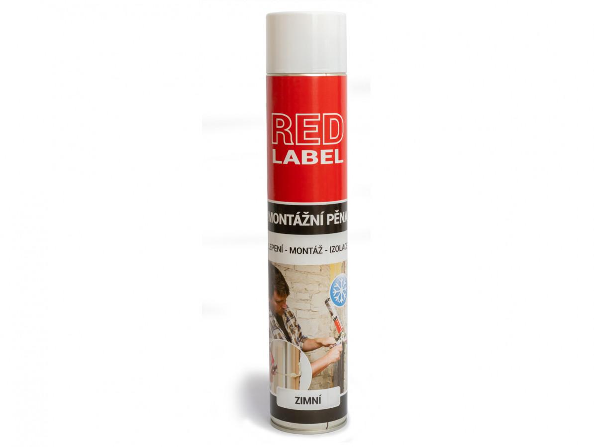 Pistolová montážní pěna Red Label (zimní) Rozměr: 750 ml, Varianta: Red Label