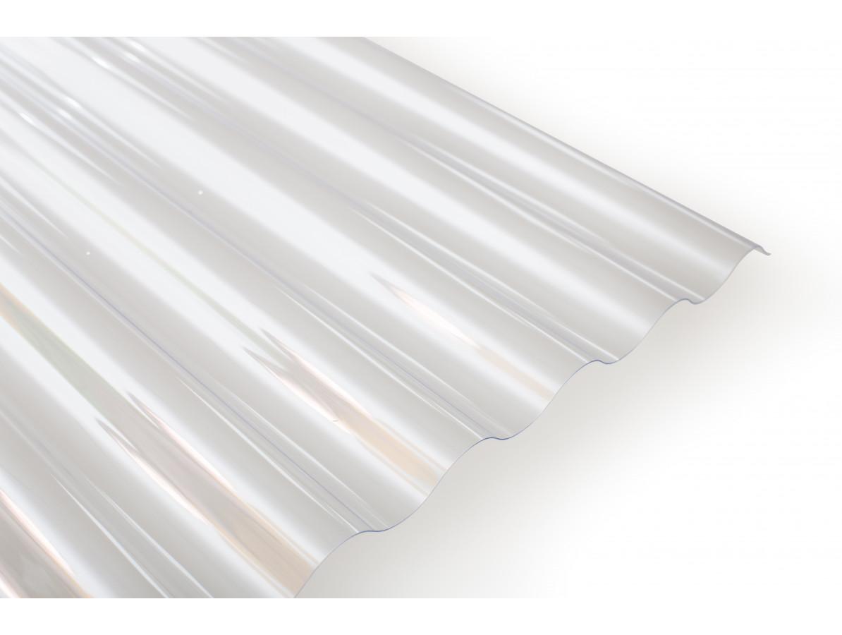 Polykarbonátová vlnitá deska Wellglass Barva: čirá, Rozměr: 2500 x 1045 mm, Varianta: Wellglass