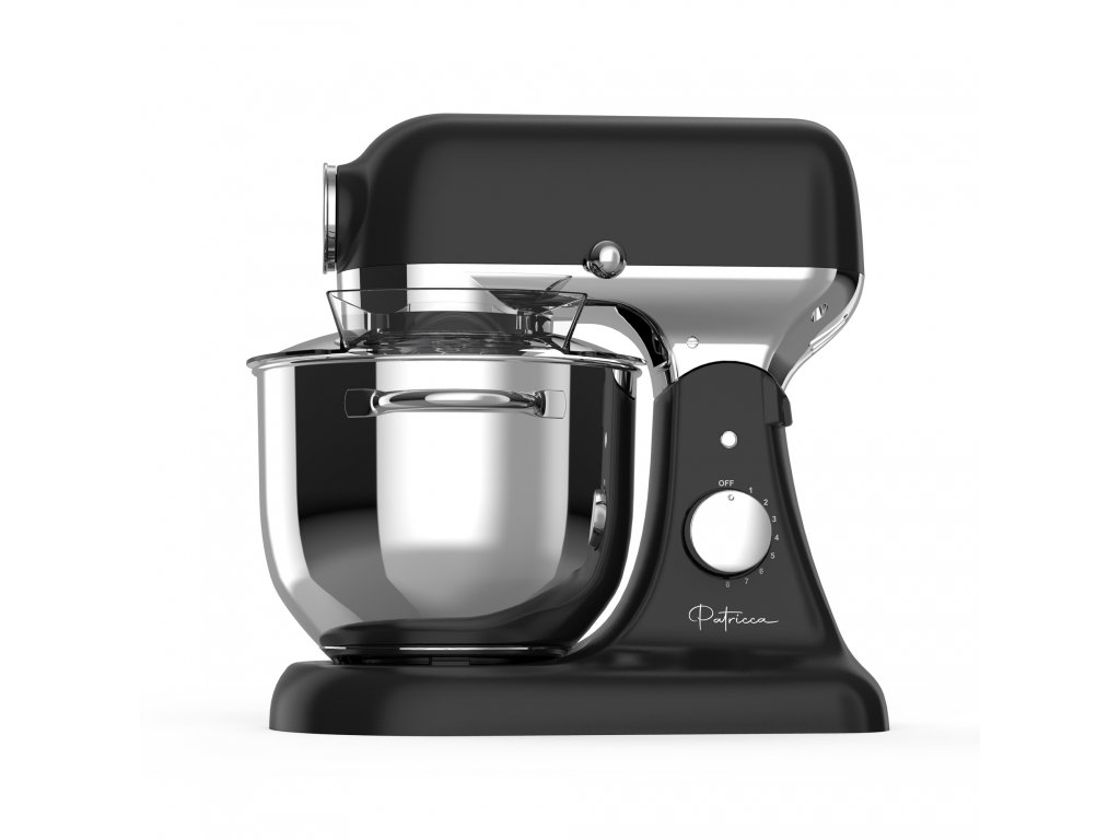 Celokovový multifunkční kuchyňský robot Patricca KRR-301BS   kuchyňský robot s mlýnkem na maso   kuchyňský robot s planetárním mícháním   nástavce pro kuchyňský robot   nerezová mísa