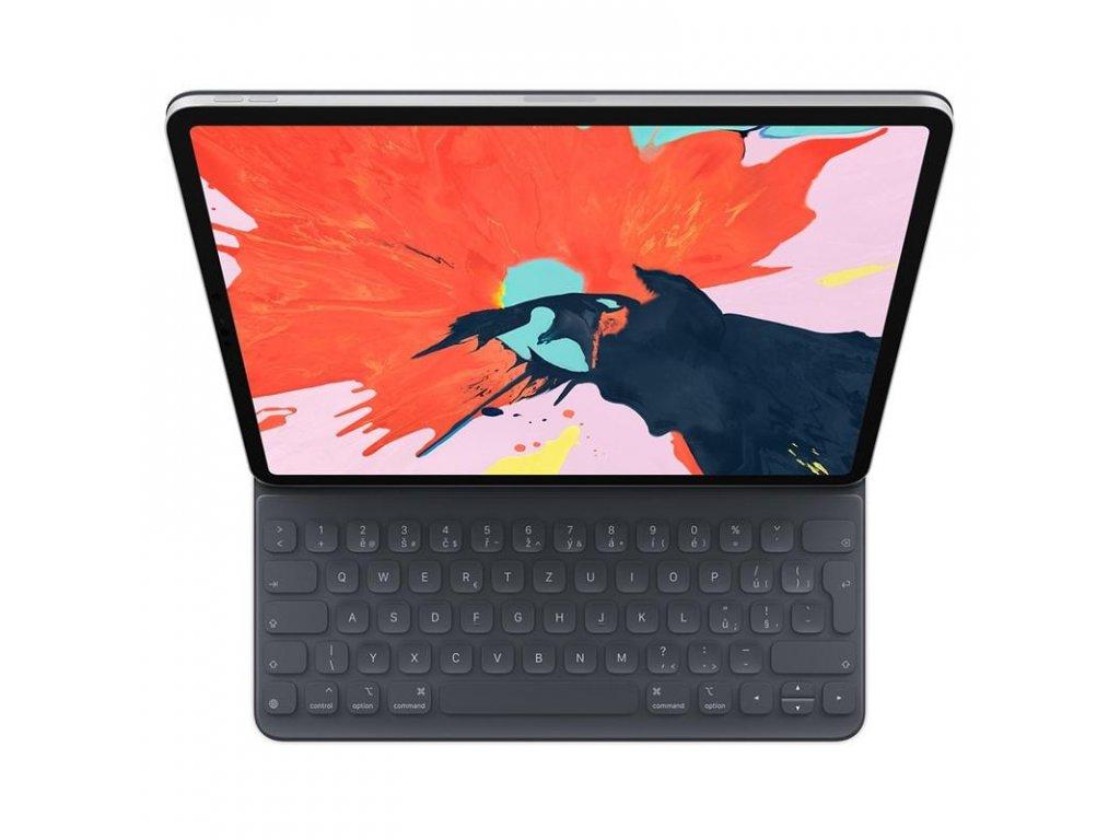 """Pouzdro na tablet s klávesnicí Apple Smart Keyboard Folio 12.9"""" iPad Pro (2018) - šedé"""