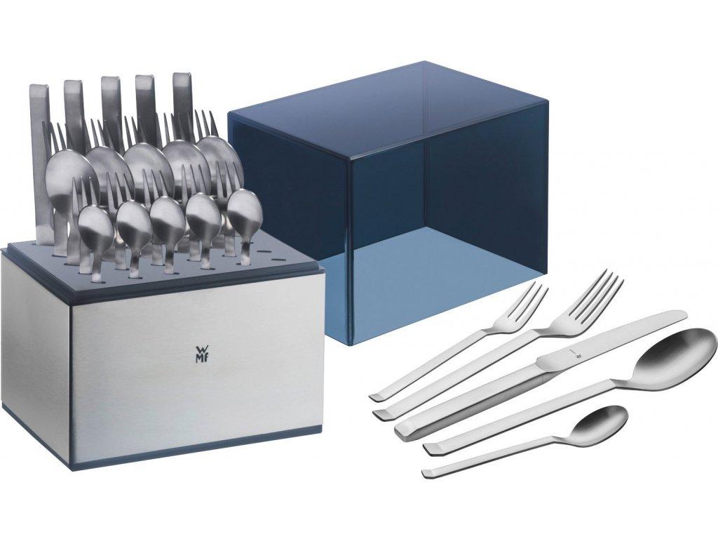 30-dílný set jídelních nerezových příborů v ochranném boxu WMF Iconic