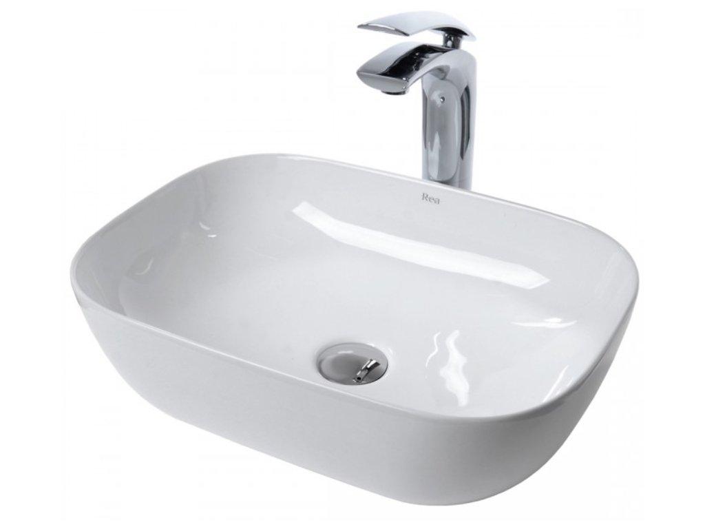 Keramické umyvadlo REA BELINDA - Lesklá bílá