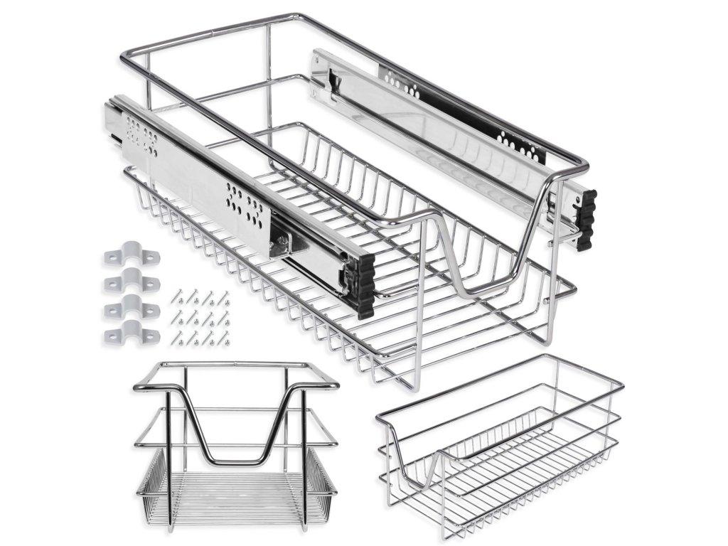 Kesser šuplík do skříně / teleskopický šuplík / zásuvka do skříně / 40 cm