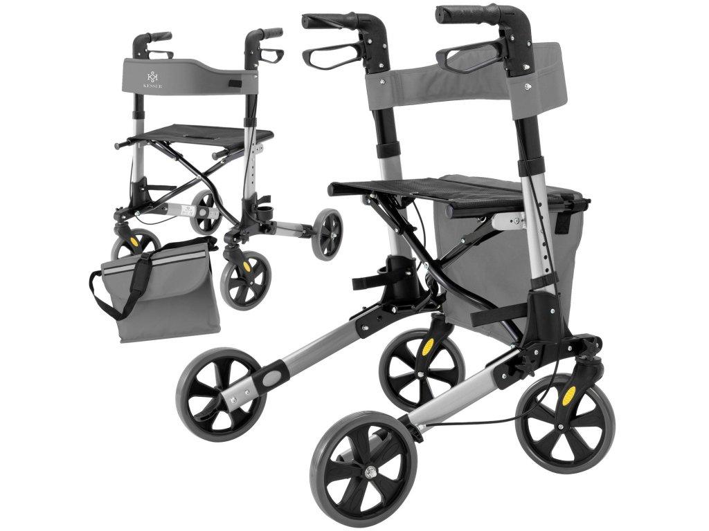 Kesser/ Pojízdné chodítko pro lehkou chůzi / vozítko / šedé
