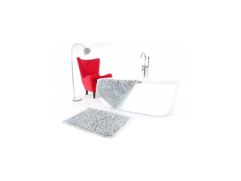 Koberec do koupelny PERU 60 x 90 cm - Světle šedý