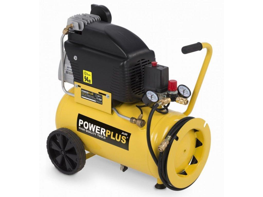 Kompresor PowerPlus POWX1790 / Olejový kompresor 24l, 1800W, 10 bar