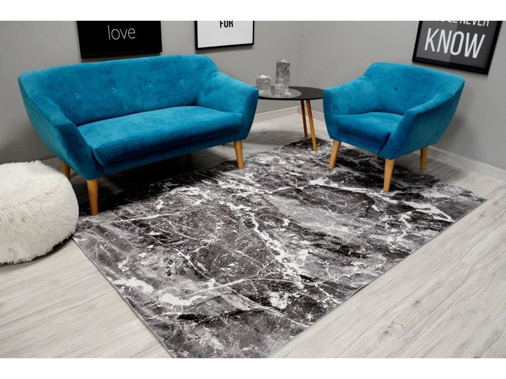 Moderní plyšový koberec NATURE 4D 140 x 200 cm - Přírodní kámen