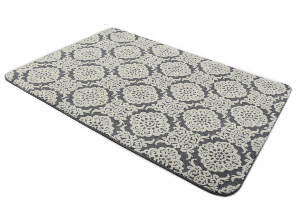 Plyšový koberec 3D 120 x 170 cm - BOLONIA šedý