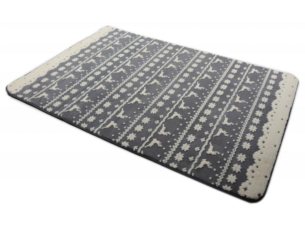 Plyšový koberec 3D 140 x 200 cm - BERGEN šedý