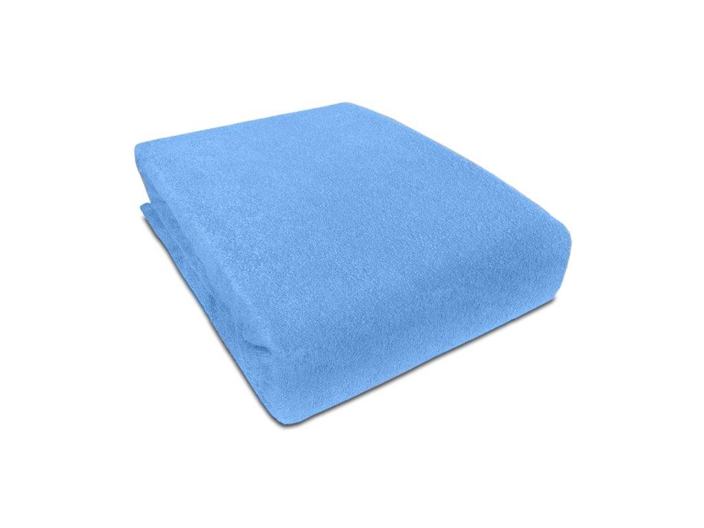 EmaHome - Prostěradlo Piruu Froté 180x200 cm / pastelově modrá 309