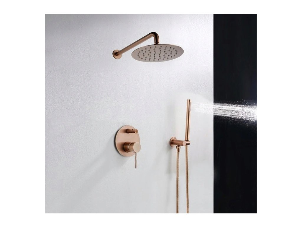 Sprchová souprava podomítková LUNGO - Rose Gold