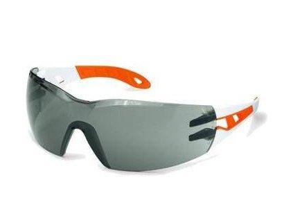 UVEX 9192.745 Brýle pracovní PHEOS / tmavé / straničky bílo-oranžové / velikost S