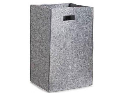 Plstěný koš na prádlo Zeller 14265 / šedý / 35 x 30 x 55 cm