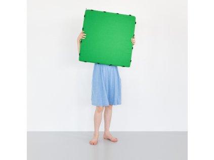Skládací pěnové puzzle Tukluk / zelená