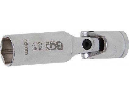 BGS hlavice nástrčná kloubová prodloužená pro žhavící svíčky 16 mm