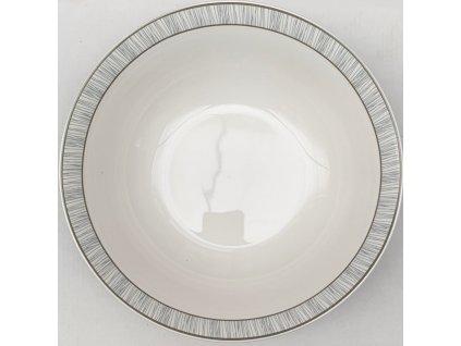 Set porcelánových mís Domino o průměru 22,5 cm / 4 kusy