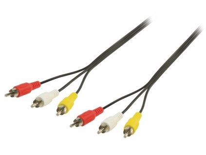 AV kabel s konektory RCA Valueline VLVP24300B15